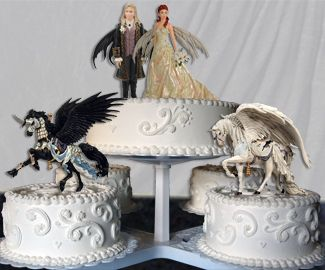 fantasy fairy wedding cake topper and wedding cakes 10 release the kraken 14197