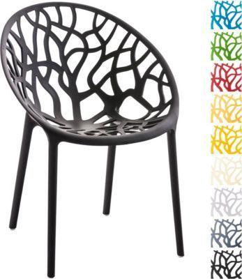 Design Gartenstuhl HOPE - praktischer Kunststoff-Stapelstuhl für - gartenmobel kunststoff design