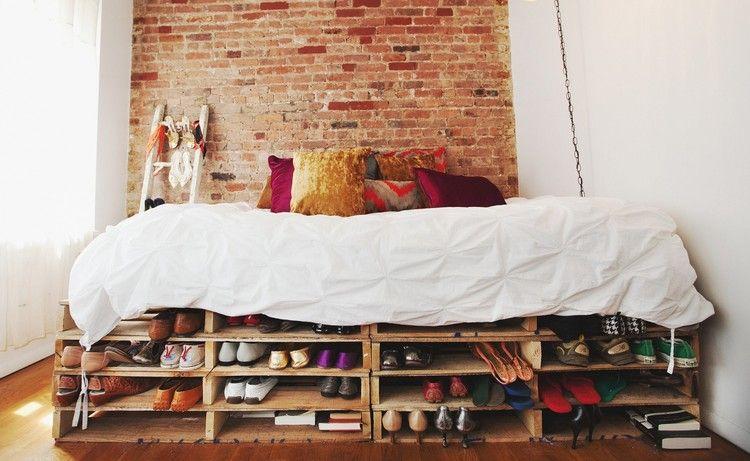 Sommier En Palettes De Bois faire des meubles avec des palettes en bois : sommier à double