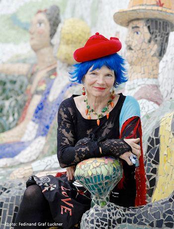 Josie Martin - photo by Fedinand Graf Luckner wonderful amazing mosaic artist
