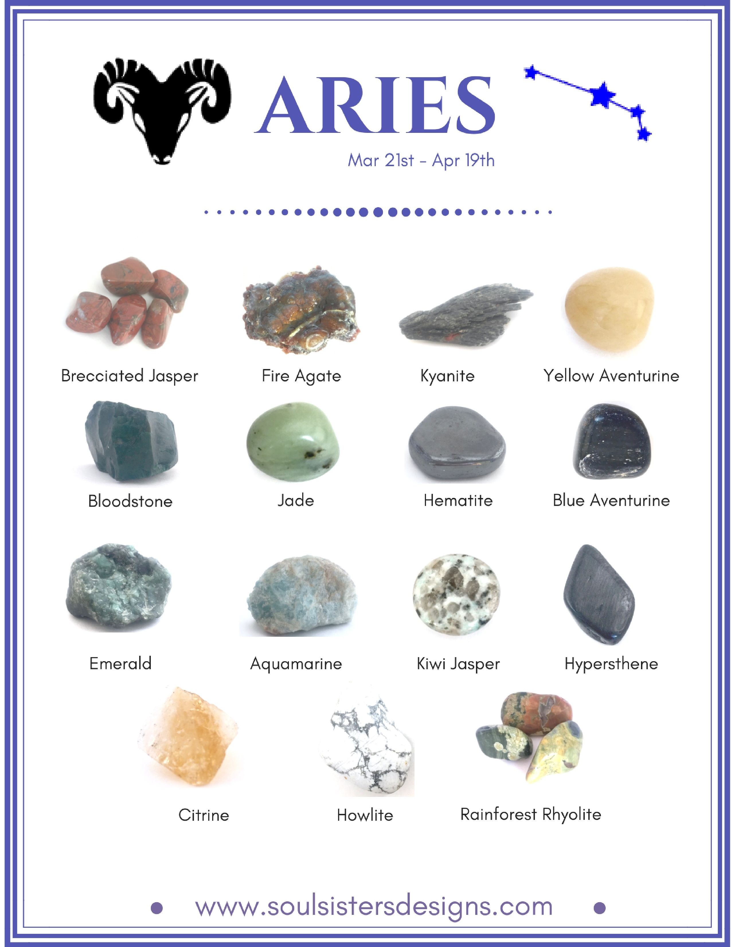 Which stone is suitable for Aries on a horoscope 56