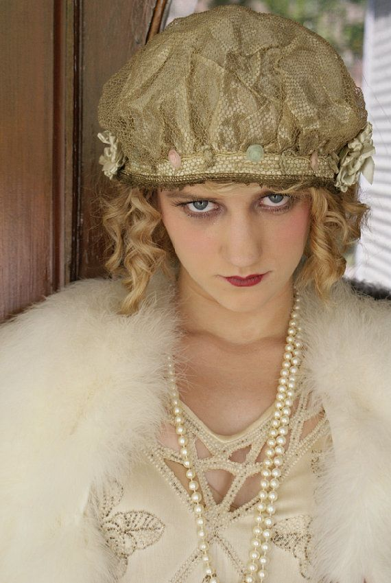 Mary Pickford Used to Eat Roses Rare Metallic Lace by BoudoirQueen, $225.00