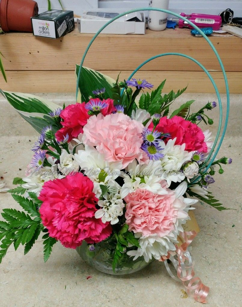 Sweet And Unique Arrangement By Forget Me Not Flowers And Gifts