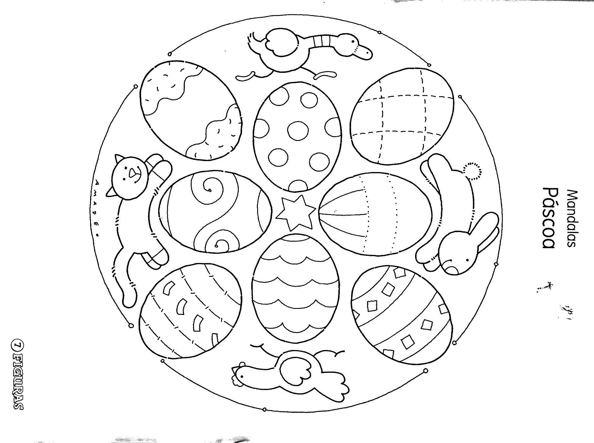 Mandala, Easter Printables Y