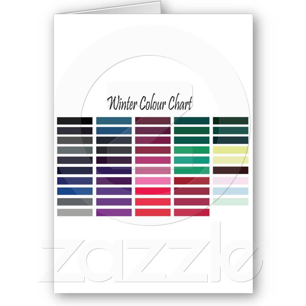 Winter color chart card winter colors colour chart and winter winter color chart card nvjuhfo Choice Image