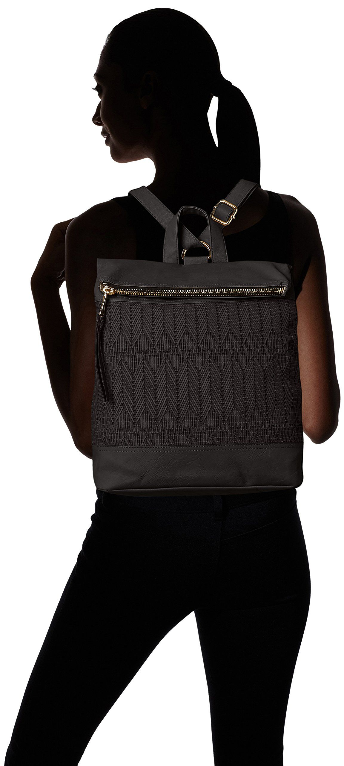 Amazon.com: POVERTY FLATS by rian Woven Backpack, Natural, One Size: Clothing