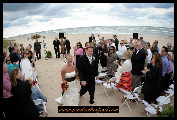 Lake Michigan Beach Wedding Heritage Center St Joseph