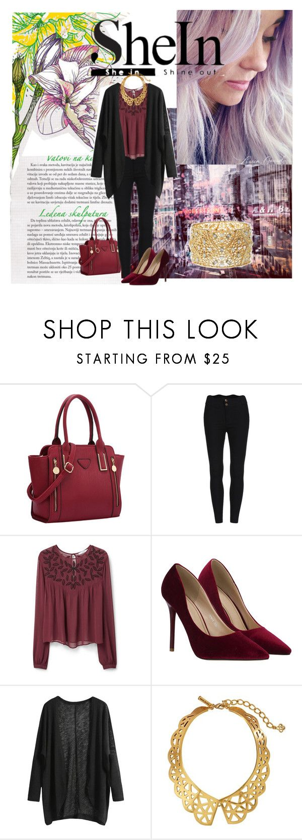 """""""A roupa e a cidade."""" by anawinchester ❤ liked on Polyvore featuring MANGO, Oscar de la Renta and Charlotte Russe"""