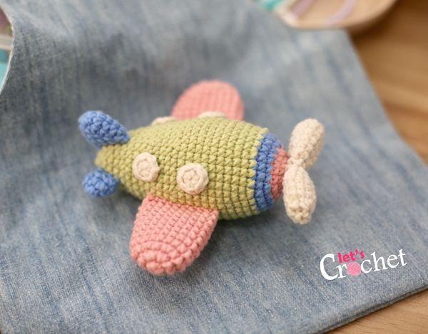 Cartoon airplane crochet pattern | Crochet animal patterns ... | 469x600