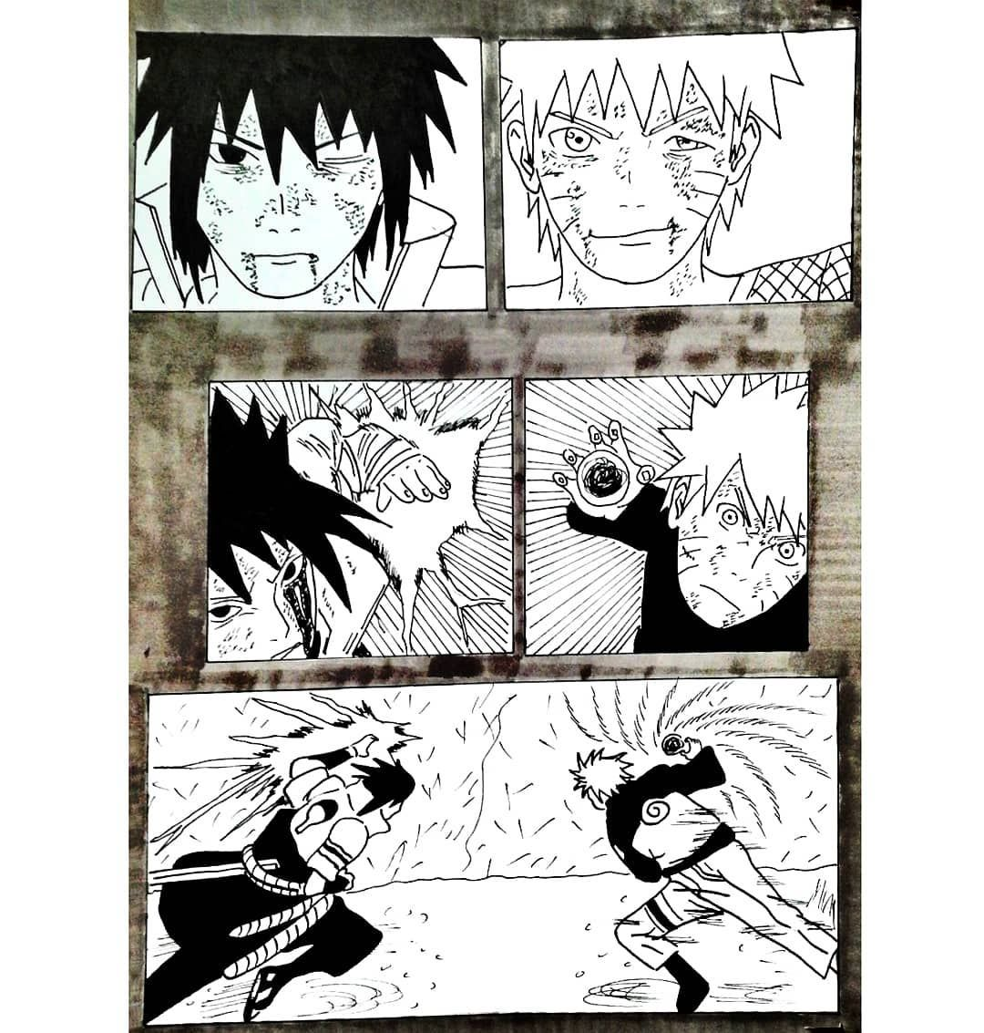 Naruto Vs Sasuke Final Battle One Of The Scenes You Requested Hope You Like It Follow For More Drawings Himanourii In 2020