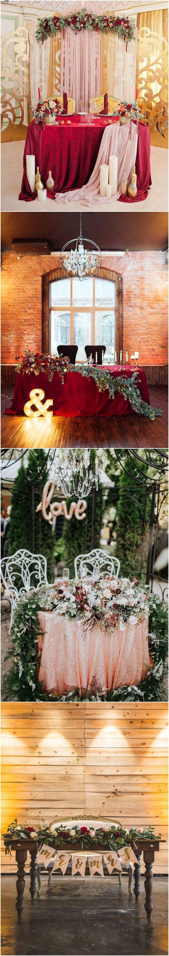Fall wedding decoration ideas reception   Fall Wedding Reception  Sweetheart Table Ideas  Wedding Decor