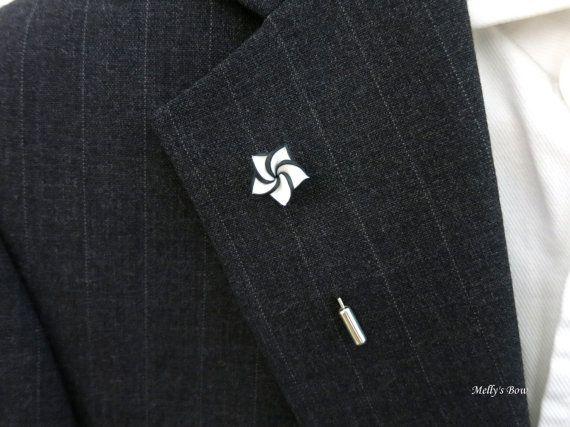 Blackwhite flower suit pin lapel stick pin pocket pin small blackwhite flower suit pin lapel stick pin pocket pin small pin 06 mightylinksfo