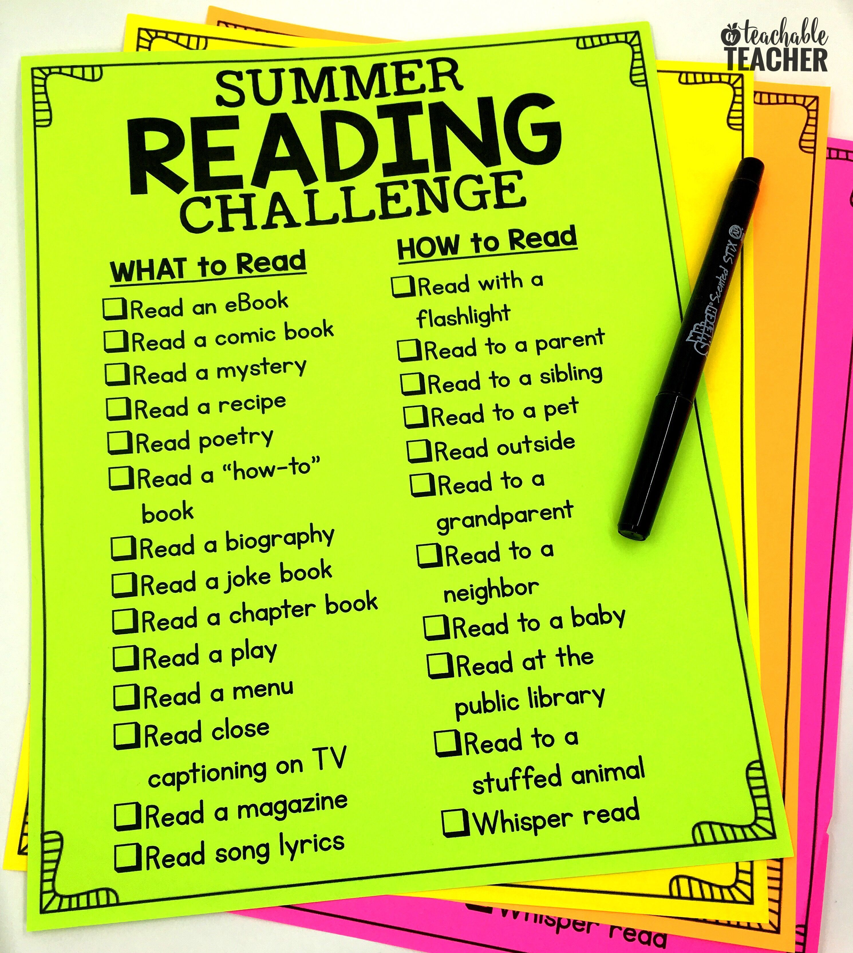 This Is Such A Way Fun To Do Summer Reading Challenge For Kids Go The Website Free Printable