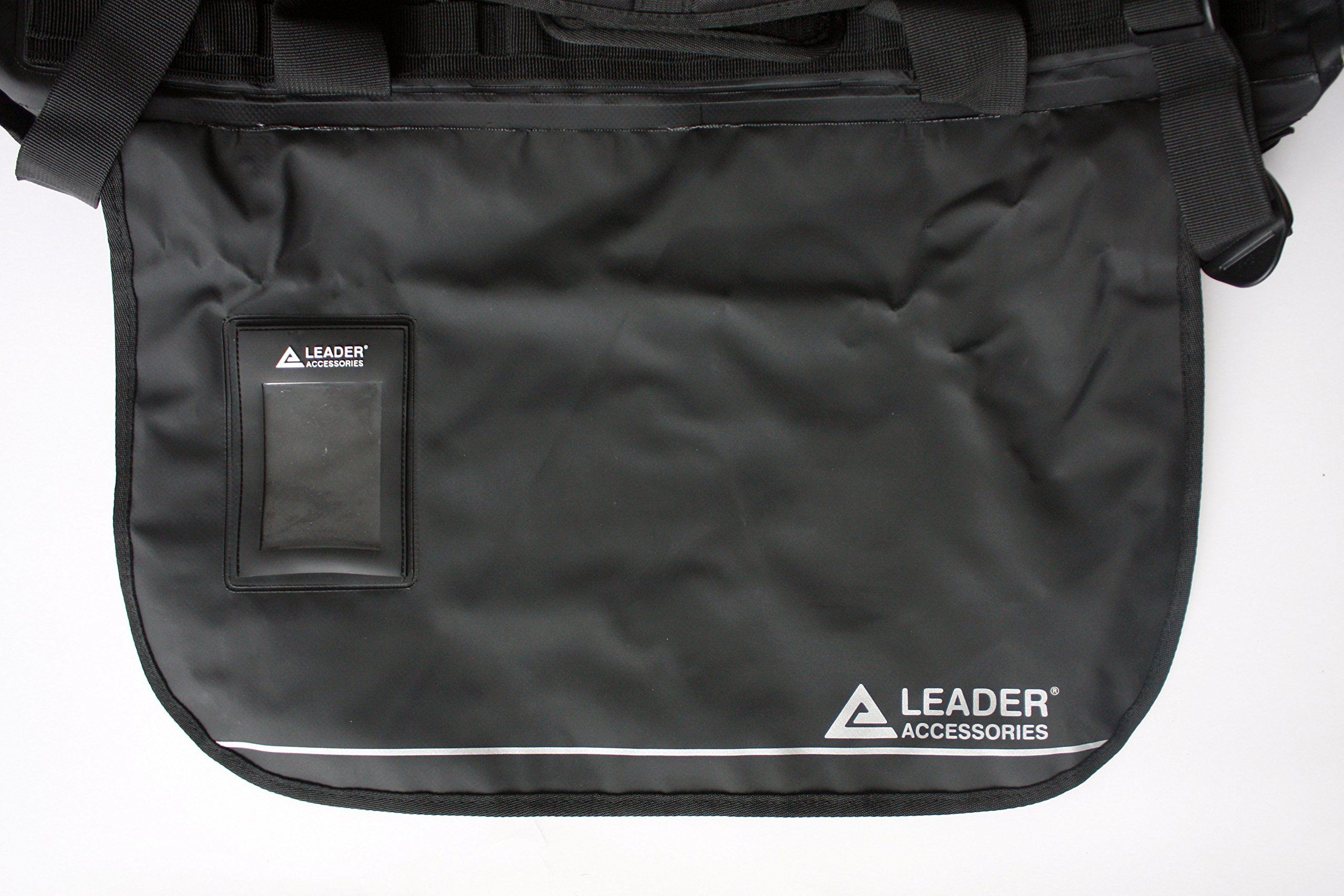 Leader Accessories Deluxe Water Resistant PVC Tarpaulin Duffel Bag Backpack  Black 90L    You can find out more details at the link of t… 9883d402ab731
