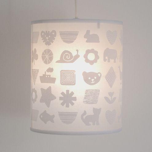 Pendant Lamp Shade, White Childrens Lampshade