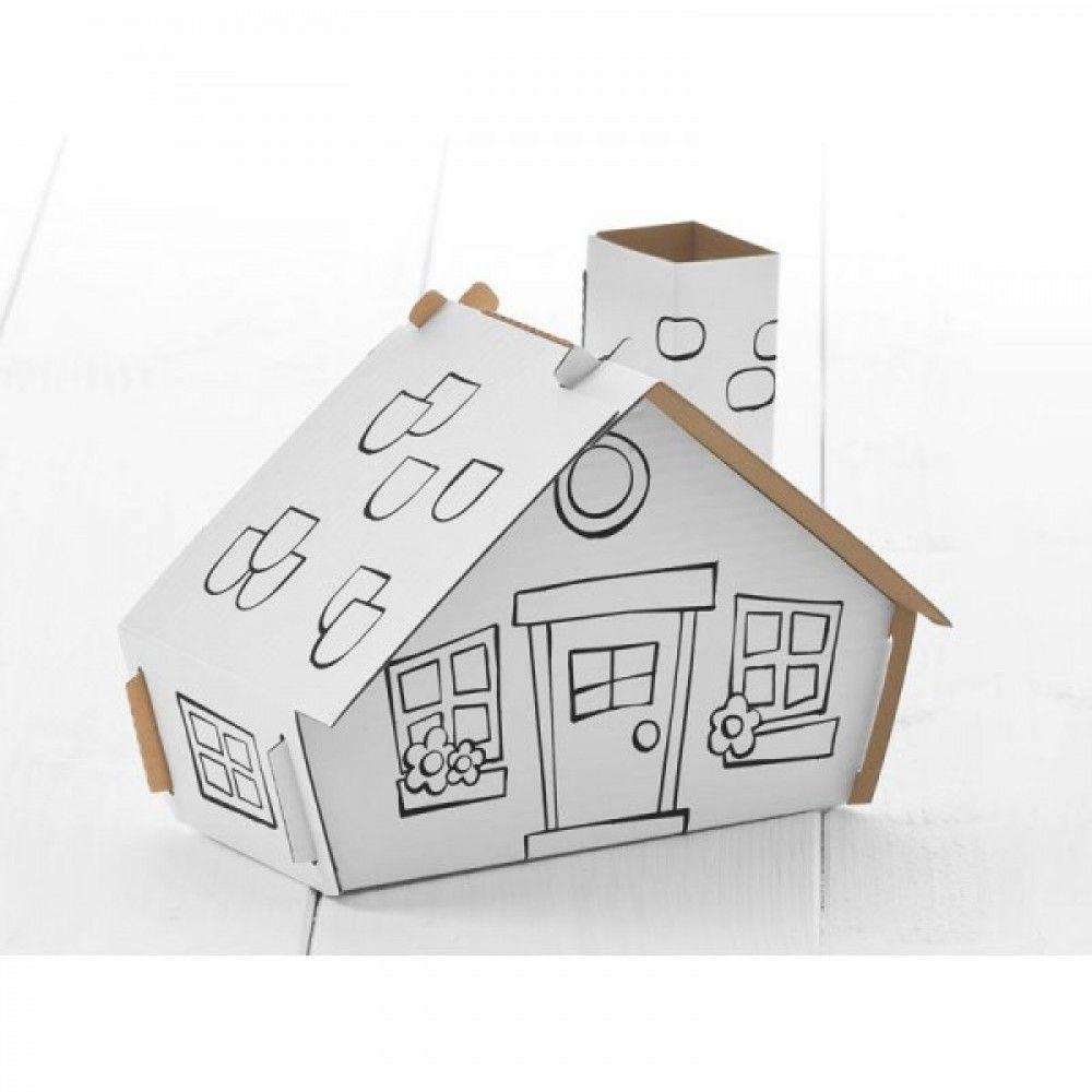 Casetta livello 1 calafant costruzioni di cartone da colorare calafant - Casetta in cartone da colorare ...