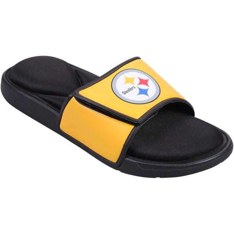 b8b945bd Pittsburgh Steelers Foam Sport Slide Shoes   Products   Shoes, Shoe ...