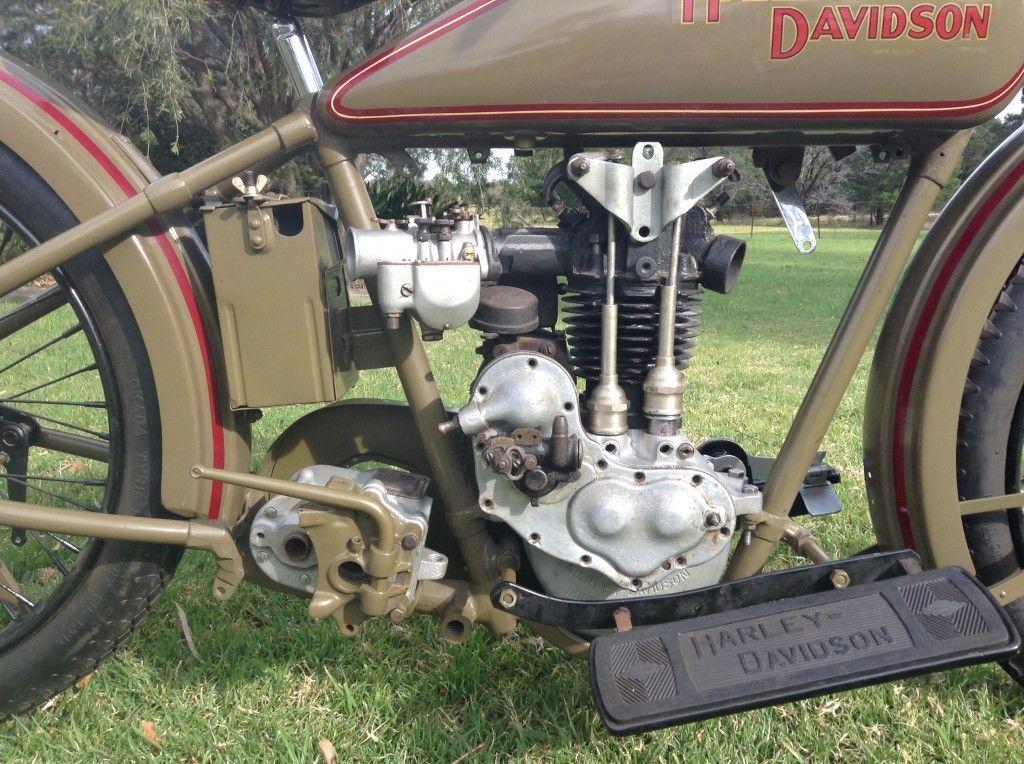 """1928 Harley Davidson Ohv 350cc Sold: 1928 Harley Davidson OHV 350cc """"Peashooter"""""""