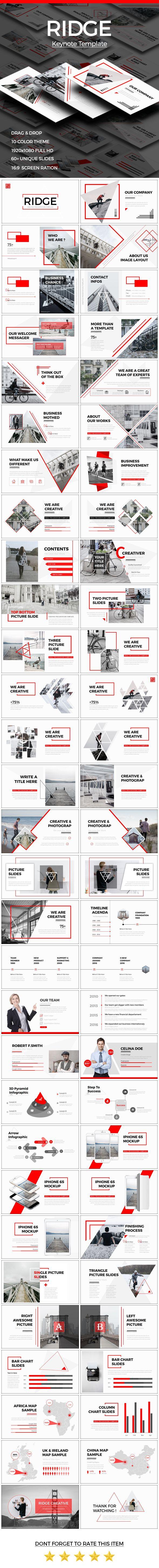 RIDGE - CREATIVE Keynote Template | Revistas, Diseño de presentación ...