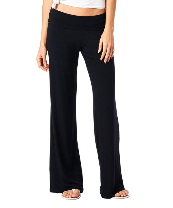 Look at this Black Palazzo Pants on #zulily today!