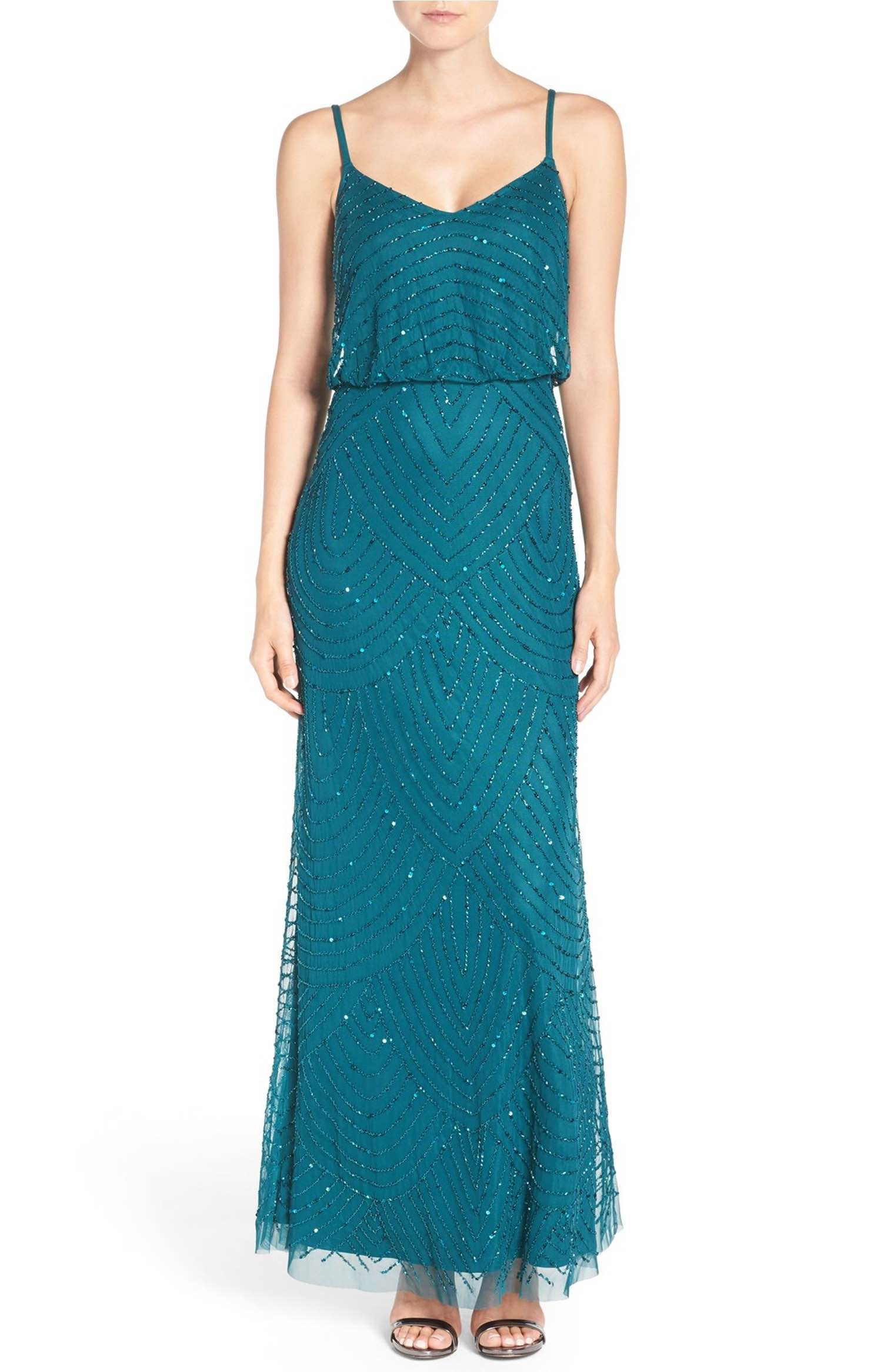 Main Image - Adrianna Papell Embellished Blouson Gown (Regular ...