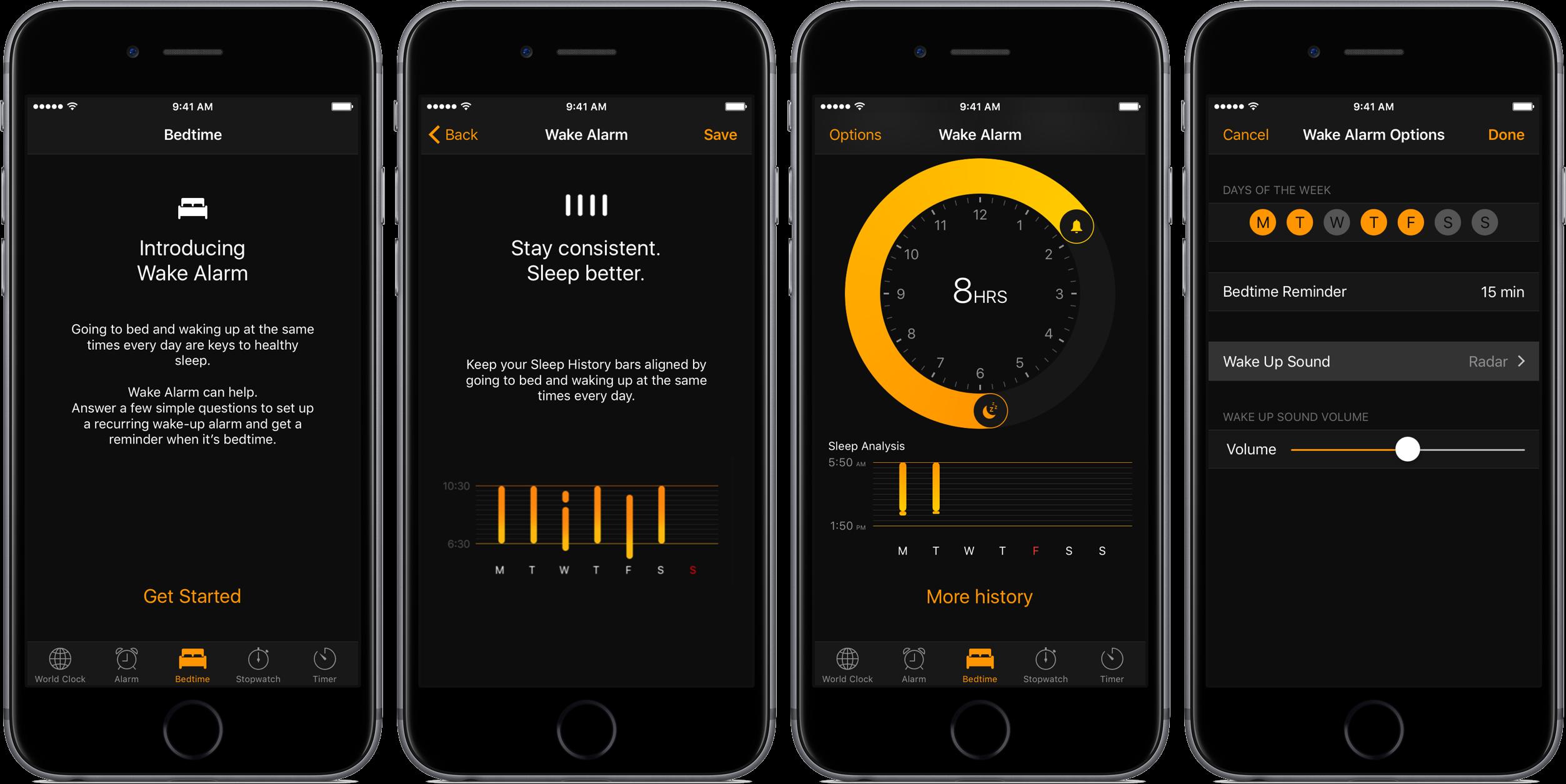 Ios 10 Bedtime Alarm Teaser 001 Space Gray Iphone Screenshot Iphone Clock Good Sleep New Ios