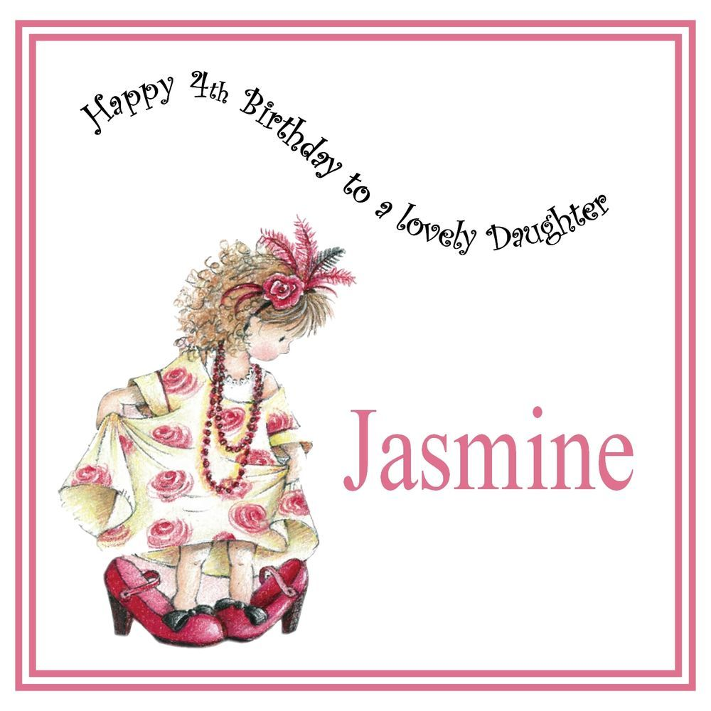 Girls childs handmade personalised birthday card any age girl handmade personalised birthday card any age girl cousin sister niece shoes kristyandbryce Gallery