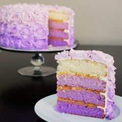 Purple Ombre Cake And My Tips To Show That YOU Too Can Make This Beautiful 2nd BirthdayBirthday IdeasFirst