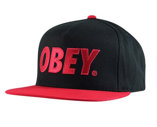 67e6ca81367 Obey The City Snapback Hat (Black Red)  19.95