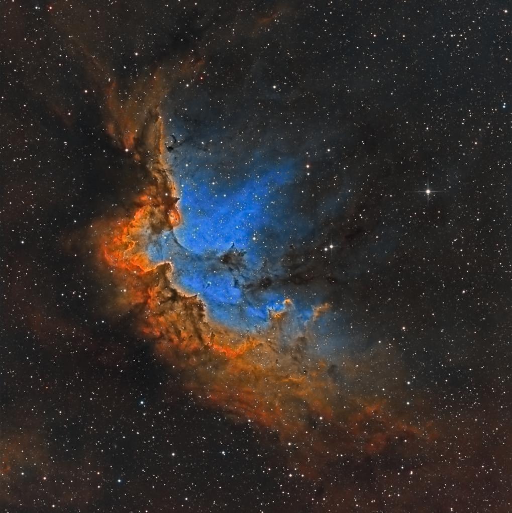 Original Acrylic Space Painting Wizard Nebula