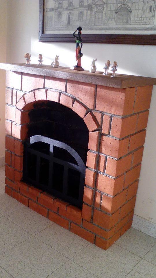 Como elaborar una chimenea decorativa en icopor silvia - Chimenea de alcohol ...