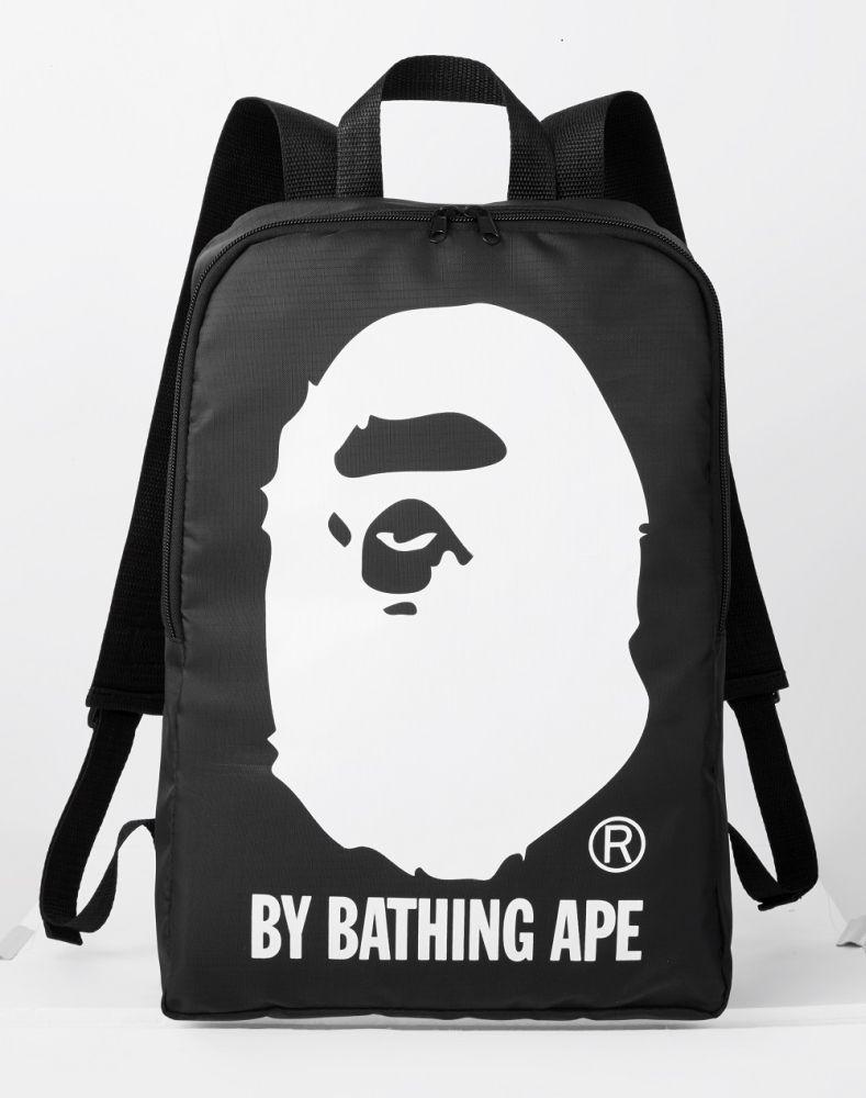 A Bathing Ape Bape Shoulder Bag Head Black Nylon Backpack Not including Magazine