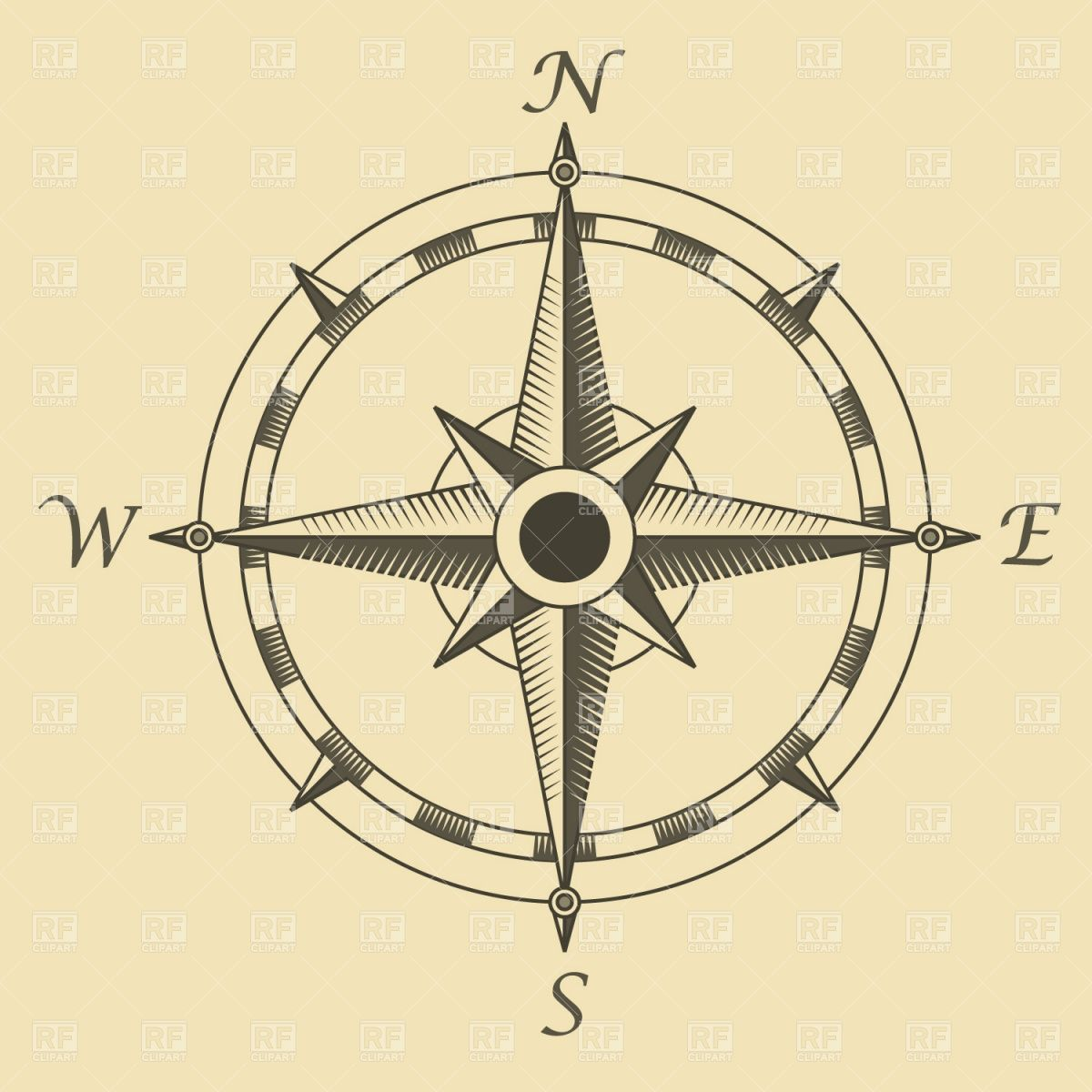 Compass rose Vector Image – Vector Artwork of Signs, Symbols, Maps ...