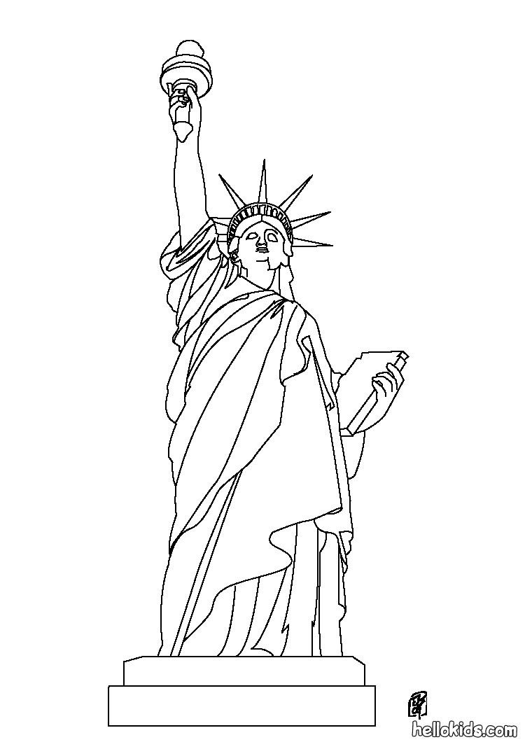 Statue Of Liberty Coloring Page Celebrate The Usa Pinterest