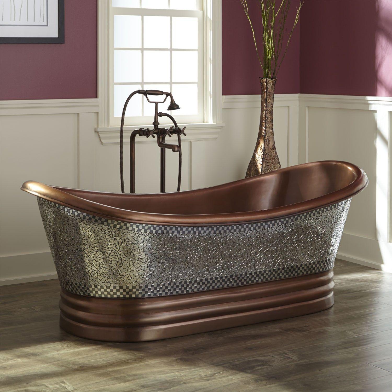 Copper Double Slipper Tub | Sevenstonesinc.com
