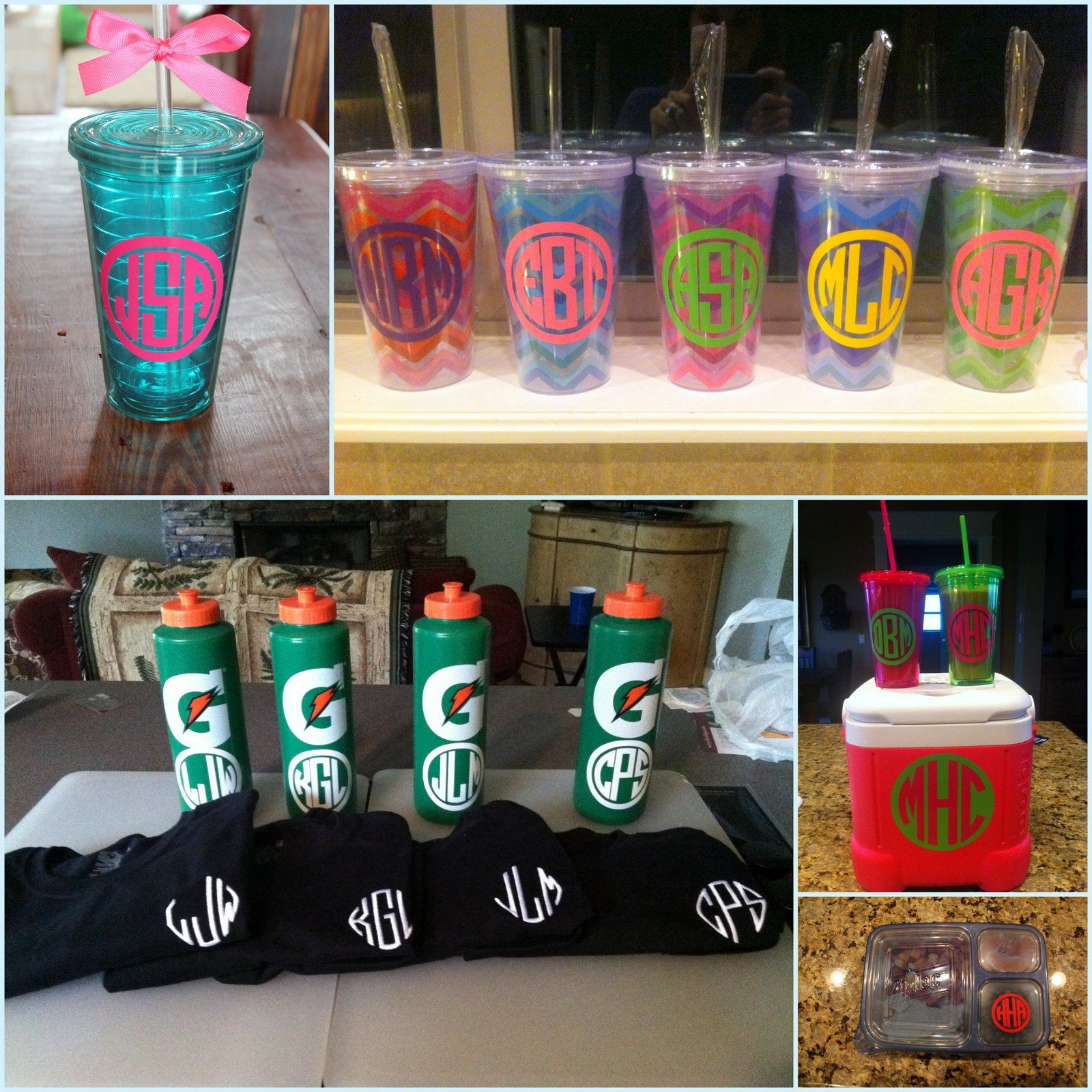 Creative Cricut And Vinyl Projects On Pinterest: The Houser House: DIY Monogrammed Tervis. Crafts. Crafty