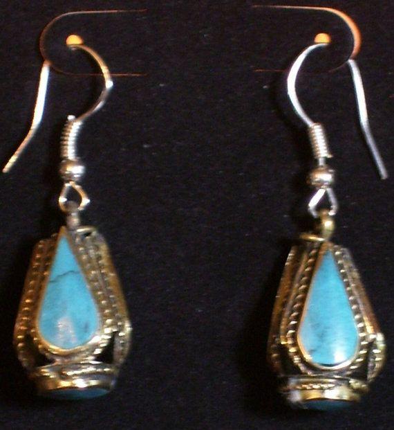Vintage Afghani Tribal 3 Sided Earrings 5 by ShamamasTreasures