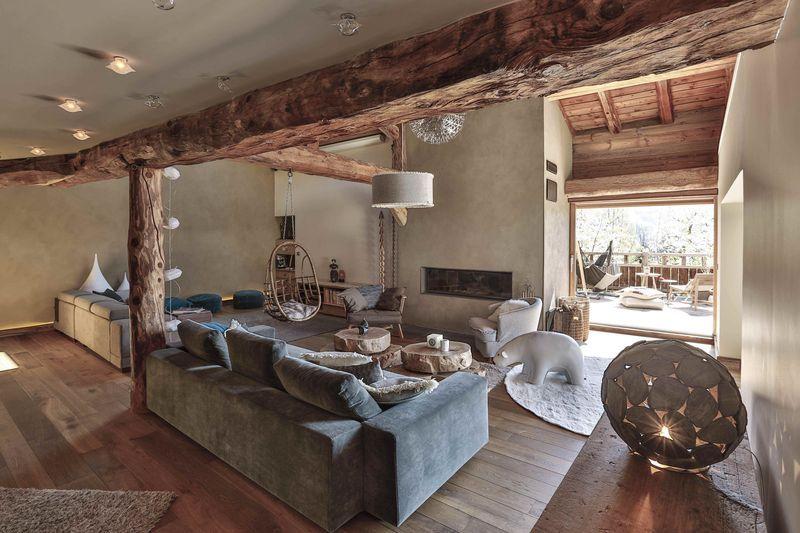 salon de la ferme restaur e d 39 anne sophie et laurent montvenix extrait du livre d coration. Black Bedroom Furniture Sets. Home Design Ideas