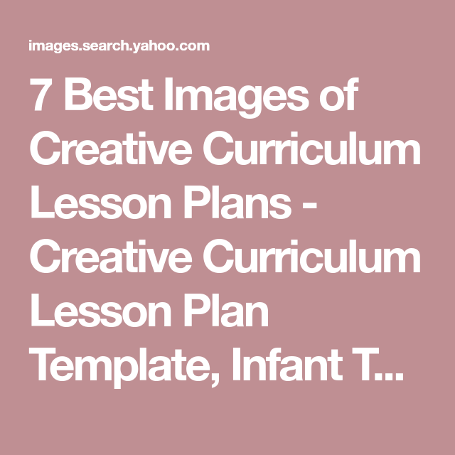 Best Images Of Creative Curriculum Lesson Plans Creative - Creative curriculum lesson plan template for infants and toddlers