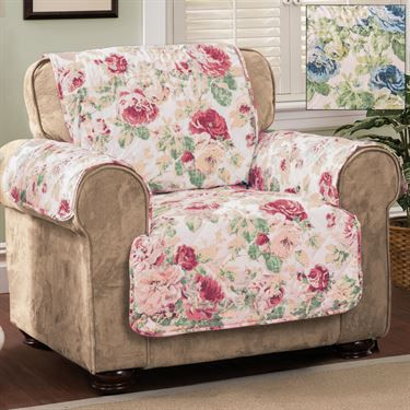 English Floral Furniture Protector Cover Chair