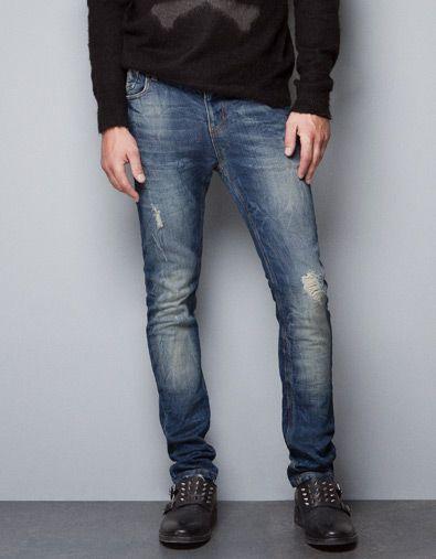 Pantalon Punto Jeans Hombre Zara Mexico