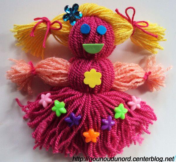 poup e en laine pour les enfants k sit it yarn dolls. Black Bedroom Furniture Sets. Home Design Ideas