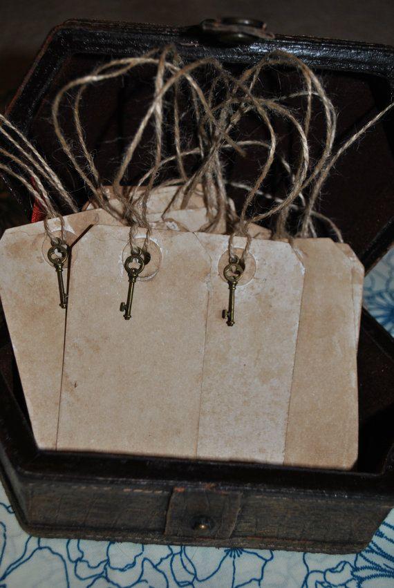 100 Medium Vintage Hang Tag Vintage Wedding Shabby Chic Place