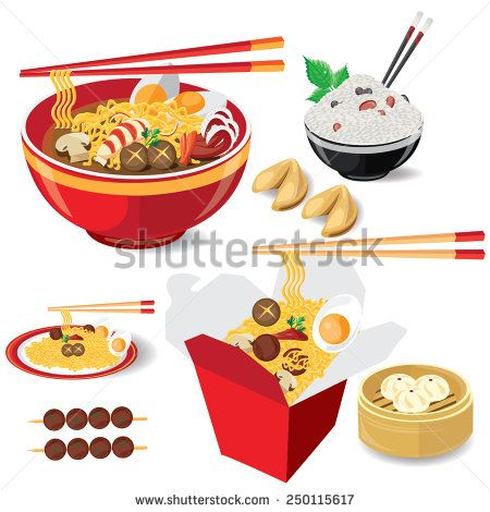 Illustration Noodle On White Food China Vector American Chinese Food Illustration Food Food And Drink
