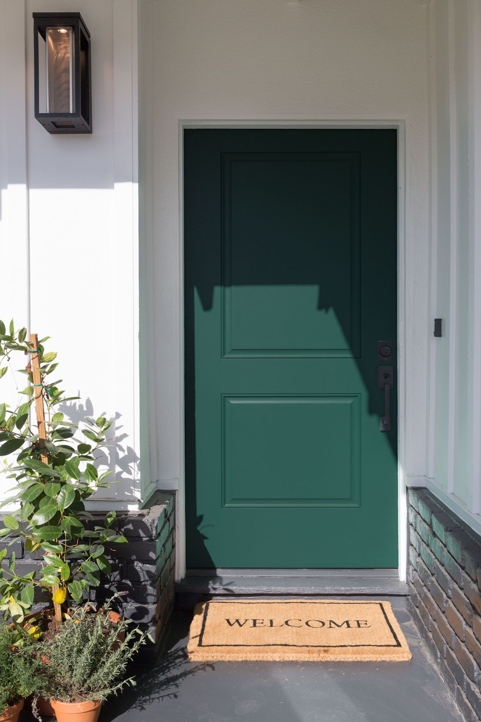 Hgtv S Jasmine Roth On How To Decorate With Night Watch 2019 S It Paint Color Front Door Colors Green Front Doors Door Color