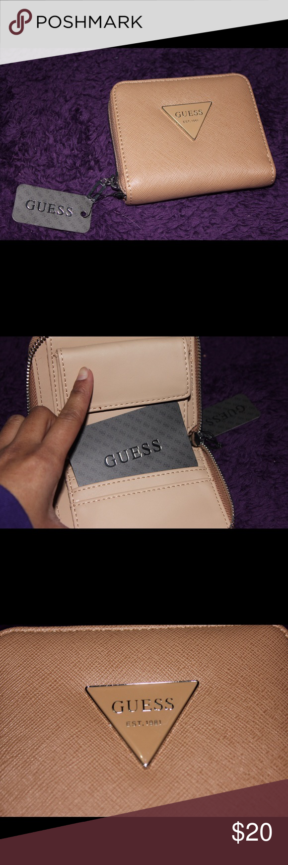 GUESS Mini Wallet New & never been used. Authentic. Can fit coins, card, and cash. Guess Accessories Key & Card Holders