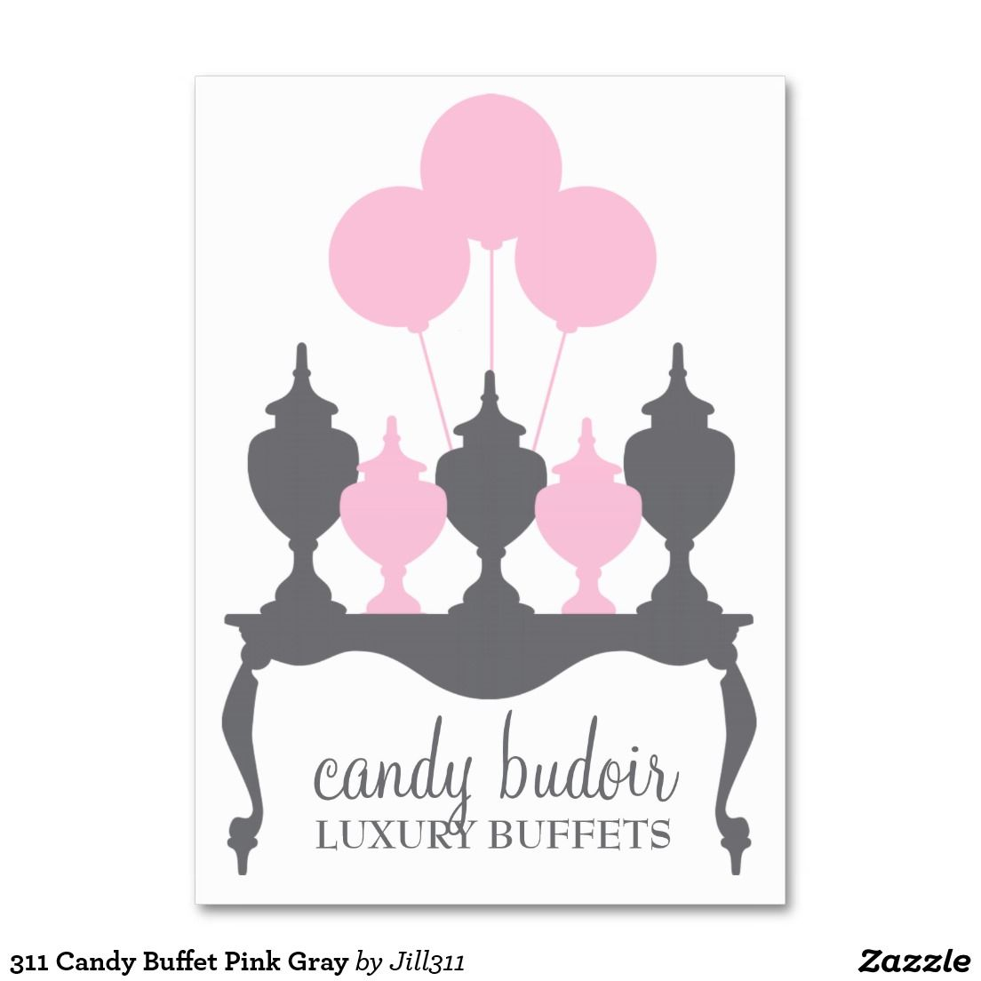 311 candy buffet pink gray business card business cards business 311 candy buffet pink gray large business cards pack of 100 colourmoves
