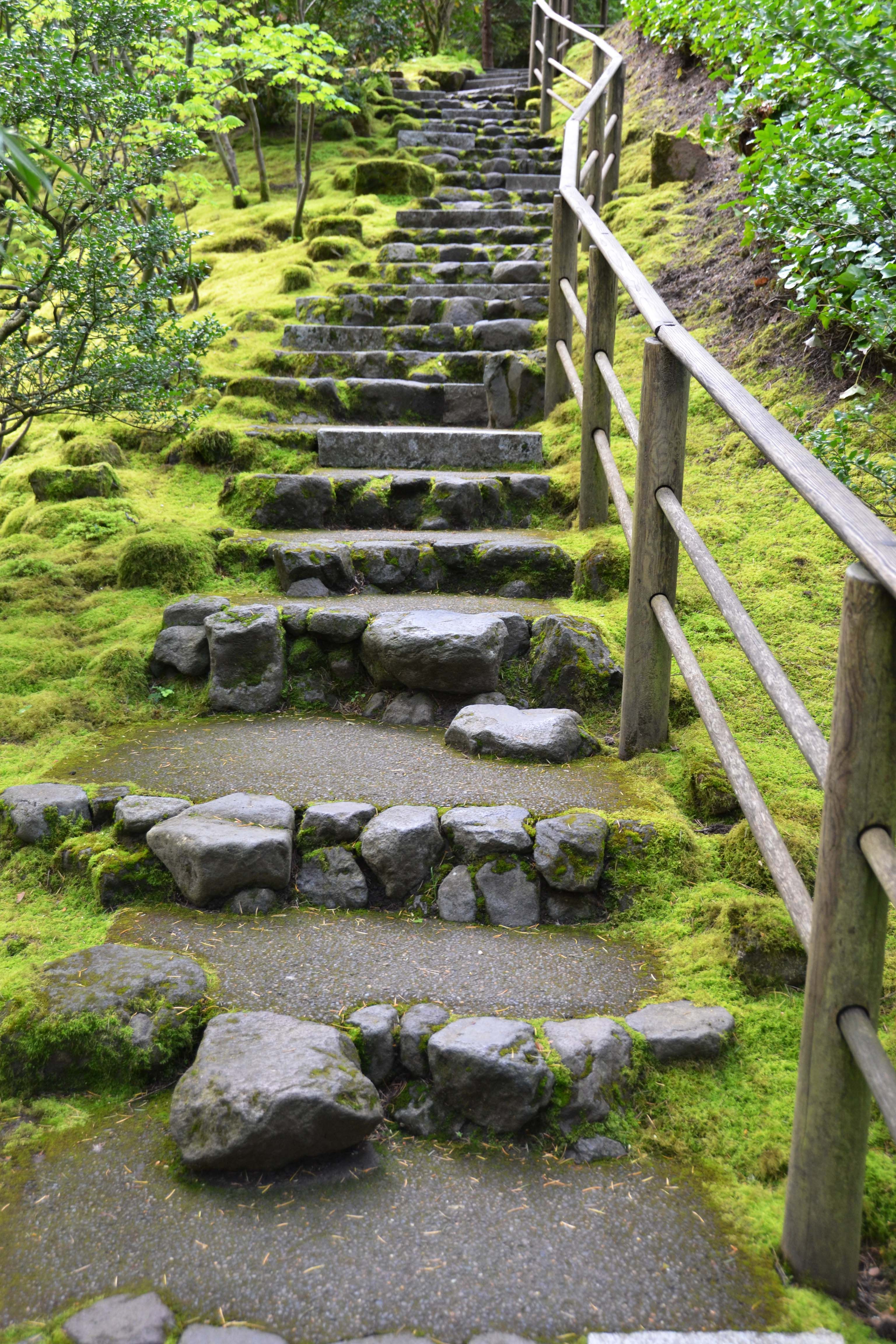 Best Japanese Garden Stone Stairs I Like The Moss Stones 400 x 300
