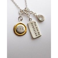 Monogrammable Artisan Charm Necklace