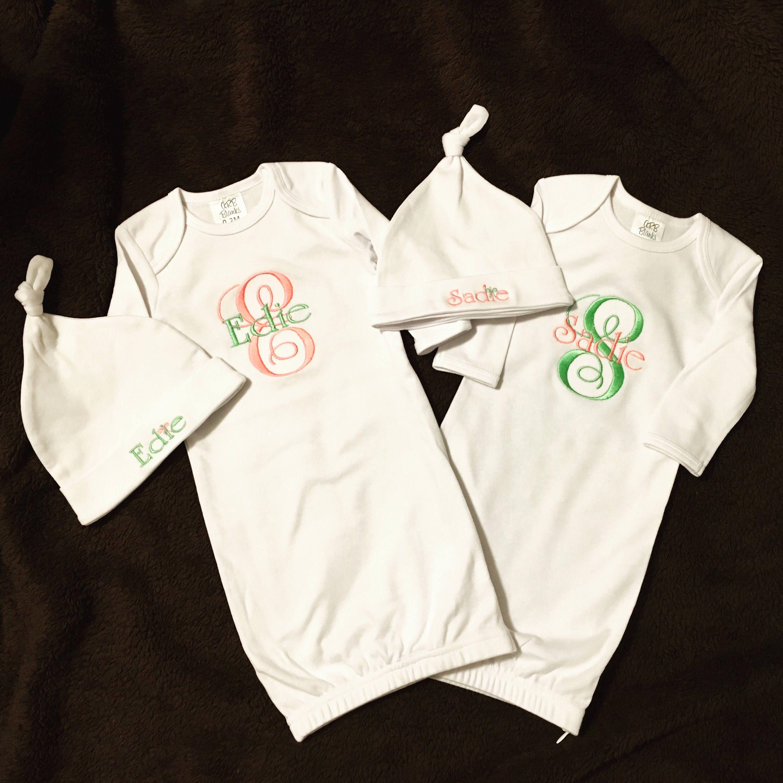 White Newborn Baby Layette Set/Baby Shower Gift/Newborn Gown/Baby ...
